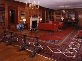 The Elkins Room, the actual library of a former Free Library Trustee who was also a prominent book collector