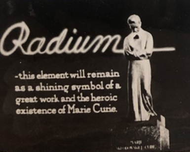 """Radium."" Frank J. Hartman papers, 1904-1977 (MSS 2/340). Historical Medical Library of The College of Physicians of Philadelphia."